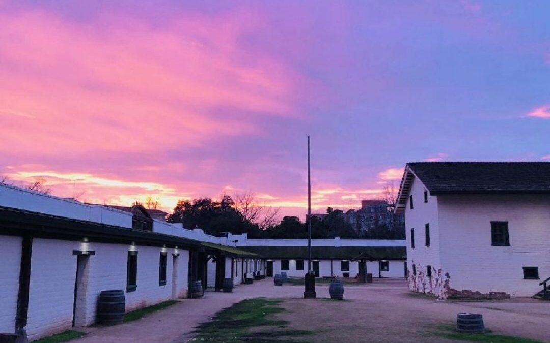 Pink Sunset at Sutter's Fort